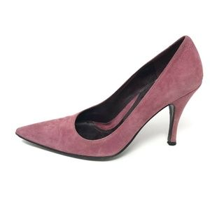Via Spiga Classic Pumps Pink Suede Pointy Toe 9